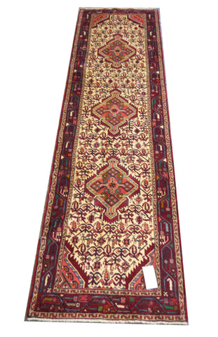 20379 -Hamadan Hand-Knotted/Handmade Persian Rug/Carpet Traditional Authentic