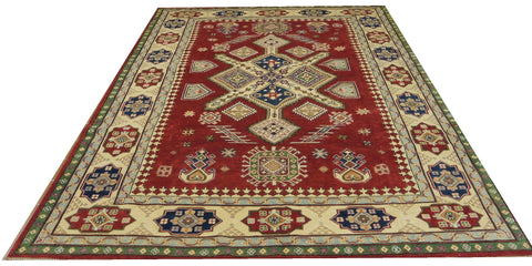 "18423-Kazak Hand-Knotted/Handmade Afghan Rug/Carpet Tribal/Nomadic Authentic 11'8"" x 8'5"""