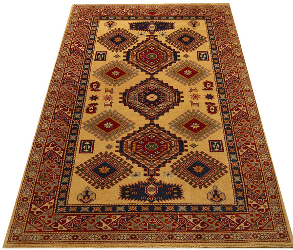 18037-Chobi Ziegler Hand-Knotted/Handmade Afghan Rug/Carpet Tribal/Nomadic Authentic