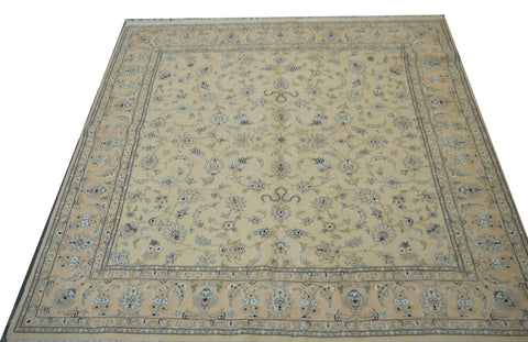 "20576-Nain Hand-Knotted/Handmade  Persian Rug/Carpet Traditional Authentic 6'7"" x 6'6"""