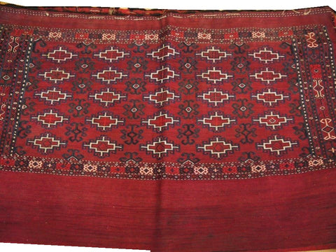 "15110-Turkmen Sumac Bag Hand-Knotted/Handmade Persian Rug/Carpet Tribal/Nomadic Authentic 3'9"" x 2'6"""