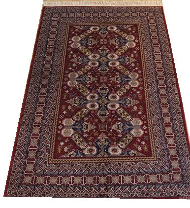 16061-Shirvan Hand-Knotted/Handmade Azerbaijan Rug/Carpet Tribal/Nomadic Authentic