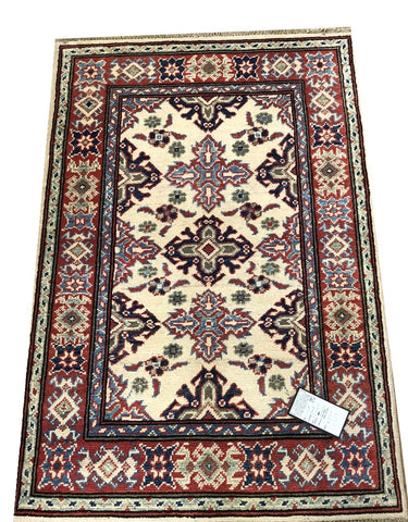 20984-Kazak Hand-Knotted/Handmade Afghan Rug/Carpet Tribal/Nomadic Authentic