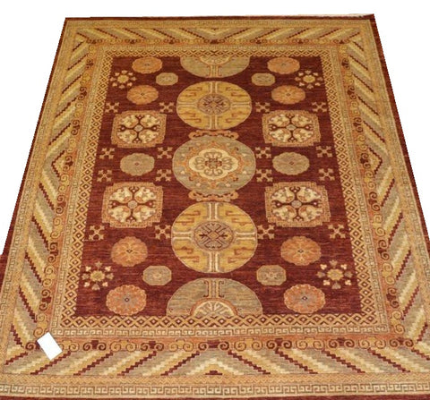 14697-Chobi Ziegler Hand-Knotted/Handmade Afghan Rug/Carpet Tribal/Nomadic Authentic