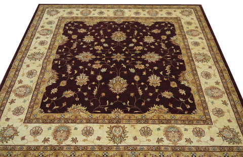 "19260-Chobi Ziegler Hand-Knotted/Handmade Afghan Rug/Carpet Tribal/Nomadic Authentic 6'7"" x 6'6"""