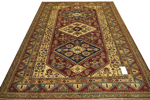 19401-Royal Shirvan Handmade/Hand-knotted Afghan Rug/Carpet Tribal/Nomadic Authentic