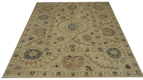 18183-Chobi Ziegler Hand-Knotted/Handmade Afghan Rug/Carpet Traditional Authentic 9'9''x 7'9''