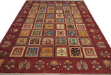 "19275-Chobi Ziegler Hand-Knotted/Handmade Afghan Rug/Carpet Tribal/Nomadic Authentic 9'6"" x 6'10"""