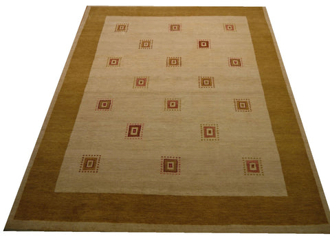 17842-Loribaft Gabbeh Hand-Knotted/Handmade Persian Rug/Carpet Tribal/Nomadic Authentic