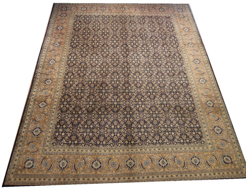 "16618-Tabriz Hand-Knotted/Handmade Persian Rug/Carpet Tribal/Nomadic Authentic 13'2"" x 9'9"""