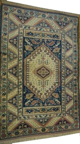 15239-Kars Hand-Knotted/Handmade Turkish Rug/Carpet Tribal/Nomadic Authentic