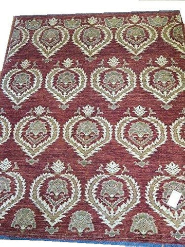 "15576-Chobi Ziegler Hand-Knotted/Handmade Afghan Rug/Carpet Traditional Authentic 7'8""x6'2"""