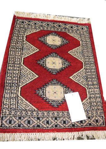 20692 -Bokhara Hand-Knotted/Handmade Pakistani Rug/Carpet Tribal/Nomadic Authentic