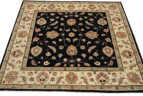 "19285-Chobi Ziegler Hand-Knotted/Handmade Afghan Rug/Carpet Tribal/Nomadic Authentic 5'0"" x 4'6"""