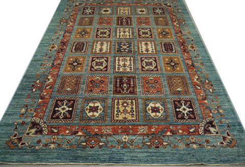 "19300-Chobi Ziegler Hand-Knotted/Handmade Afghan Rug/Carpet Tribal/Nomadic Authentic 8'5"" x 5'8"""