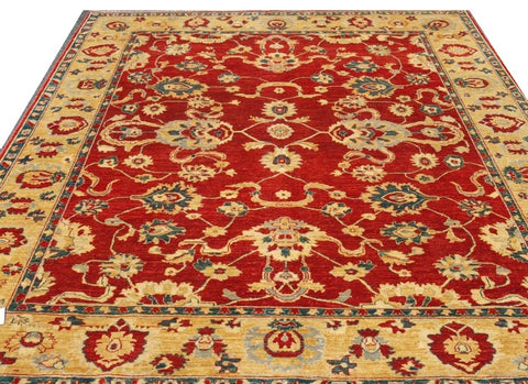 "15491-Chobi Ziegler Hand-Knotted/Handmade Afghan Rug/Carpet Traditional Authentic 9'7"" x 8'3"""