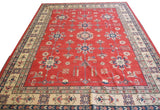 20612-Kazak Hand-Knotted/Handmade Afghan Rug/Carpet Tribal/Nomadic Authentic