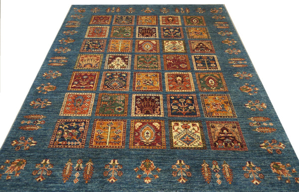 19303-Chobi Ziegler Hand-Knotted/Handmade Afghan Rug/Carpet Tribal/Nomadic Authentic