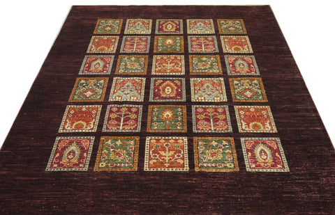 19302-Chobi Ziegler Hand-Knotted/Handmade Afghan Rug/Carpet Tribal/Nomadic Authentic