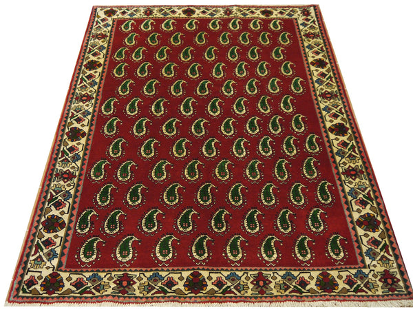 18233-Shiraz Hand-Knotted/Handmade Afghan Rug/Carpet Tribal/Nomadic Authentic