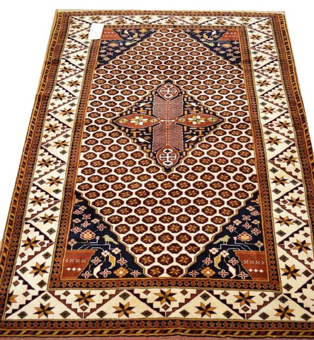 "13094 - Baluch Persian Hand-knotted Authentic/Traditional Nomadic/Tribal Rug/Carpet 6'2"" x 4'2"""