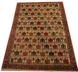 17248 - Afshar Hand-Knotted/Handmade Persian Rug/Carpet Tribal/Nomadic Authentic