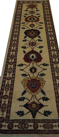 "15378-Lori Gabbeh Hand-Knotted/Handmade Persian Rug/Carpet Traditional Authentic 10'2"" x 2'6"""