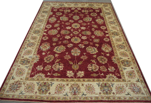 19255-Chobi Ziegler Hand-Knotted/Handmade Afghan Rug/Carpet Tribal/Nomadic Authentic