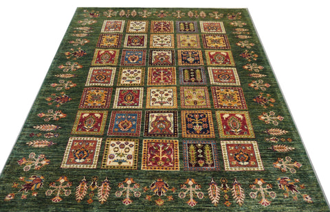 19269-Chobi Ziegler Hand-Knotted/Handmade Afghan Rug/Carpet Tribal/Nomadic Authentic