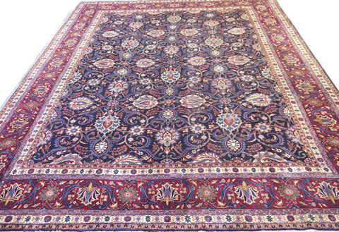 "20353-Mashad Hand-Knotted/Handmade Persian Rug/Carpet Traditional Authentic12'5"" x 9'9"""
