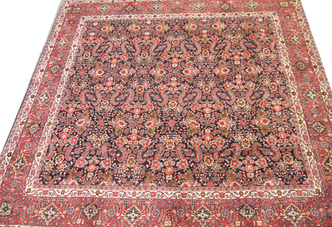 20577-Bidjar Hand-Knotted/Handmade Persian Rug/Carpet Traditional Authentic