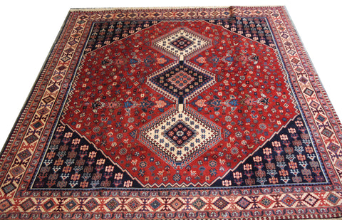 20582- Yalameh Hand-Knotted/Handmade  Persian Rug/Carpet Traditional Authentic