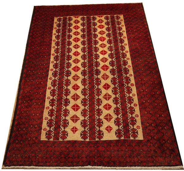 17367-Balutch Hand-Knotted/Handmade Persian Rug/Carpet Tribal/Nomadic Authentic