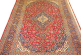 "19445 Kashan Hand-Knotted/Handmade Persian Rug/Carpet Traditional Authentic 11'4"" x 8'2"""