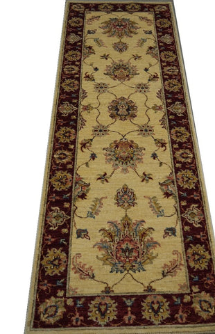 19276-Chobi Ziegler Hand-Knotted/Handmade Afghan Rug/Carpet Tribal/Nomadic Authentic