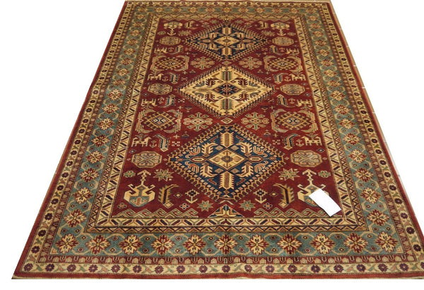 "19380-Royal Shirvan Handmade/Hand-knotted Afghan Rug/Carpet Tribal/Nomadic Authentic6'7"" x 4'9"""