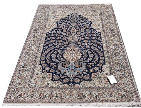 "18464-Nain Handmade/Hand-Knotted Rug/Carpet Traditonal Authentic 6'9"" x 4'2"""