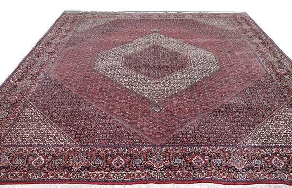 18450-Bidjar Hand-Knotted/Handmade Afghan Rug/Carpet Tribal/Nomadic Authentic