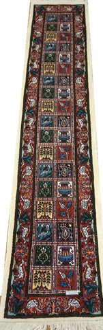 19804 - Moud Hand-Knotted/Handmade Persian Rug/Carpet Traditional Authentic