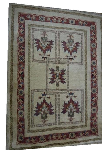 "15544-Lori Gabbeh Hand-Knotted/Handmade Persian Rug/Carpet Tribal/Nomadic Authentic 4'10"" x 3'7"""