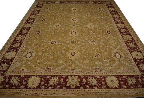 19238-Chobi Ziegler Hand-Knotted/Handmade Afghan Rug/Carpet Tribal/Nomadic Authentic