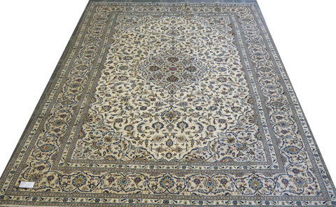 20357-Kashan Handmade/Hand-Knotted Persian Rug/Carpet Authentic
