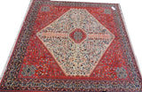 15478 - Abadeh Hand-Knotted/Handmade Persian Rug/Carpet Tribal/Nomadic Authentic