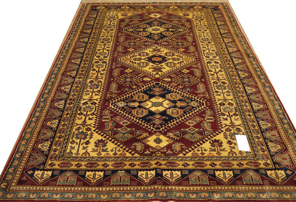 19408-Royal Shirvan Handmade/Hand-knotted Afghan Rug/Carpet Tribal/Nomadic Authentic