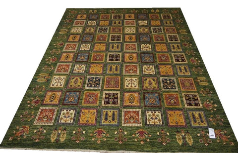 19783-Chobi Ziegler Hand-Knotted/Handmade Afghan Rug/Carpet Traditional Authentic