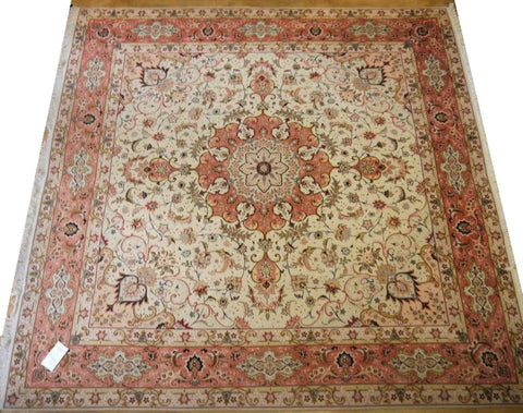 15050 - Tabriz Persian Hand-knotted Authentic/Traditional Carpet/Rug Silk-made