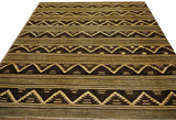 19943-Chobi Ziegler Hand-knotted/Handmade Afghan Rug/Carpet Traditional Authentic