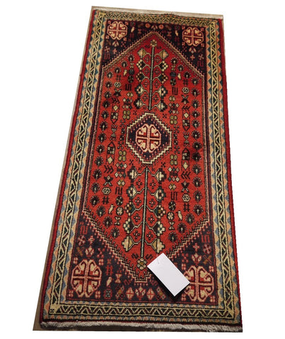 "21441-Hamadan Hand-Knotted/Handmade Persian Rug/Carpet Traditional Authentic 4'4"" x 2'2"""