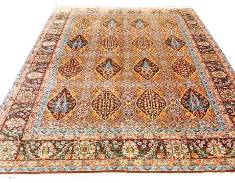 "15635-Bidjar Hand-Knotted/Handmade Persian Rug/Carpet Tribal/Nomadic Authentic 9'4""x 6'7"""