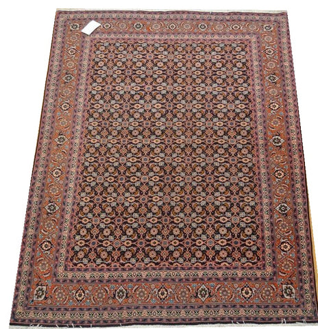 "15063 - Tabriz Persian Hand-knotted Authentic/Traditional Carpet/Rug Silk-made 6'11"" x 5'1"""